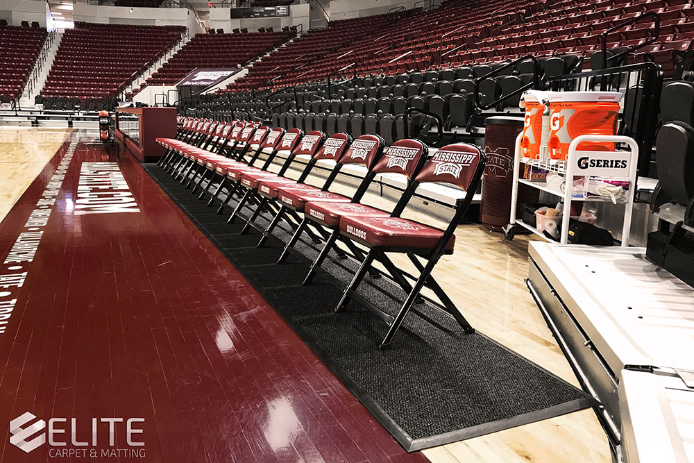 mississippi state university courtside runners, sideline mats, court runners, gym runners, sideline mats, runners for basketball court, basketball runners