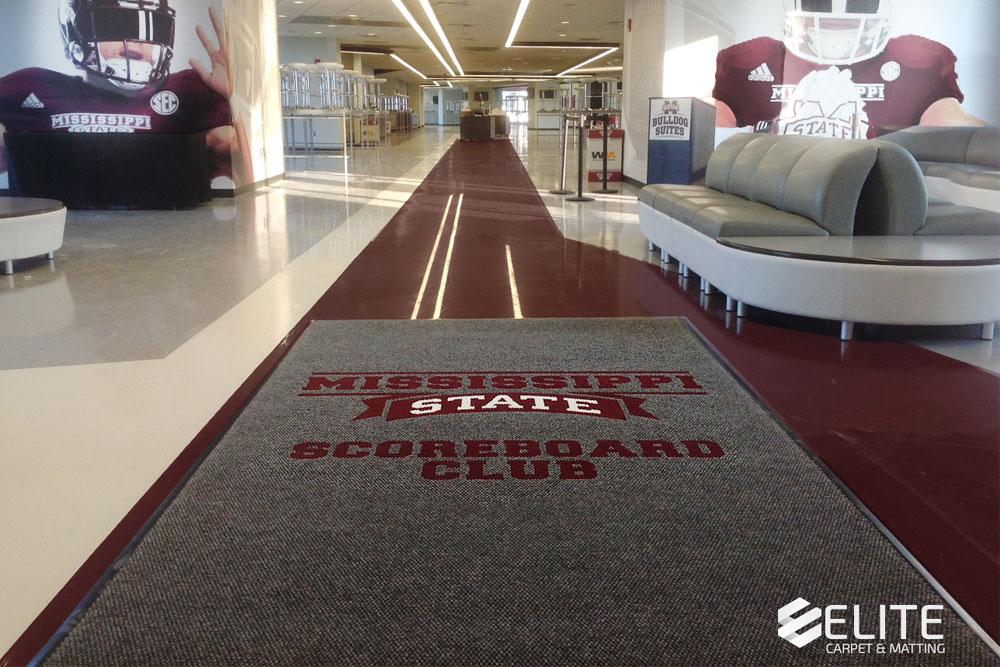 mississippi state university scoreboard club logo entry mat