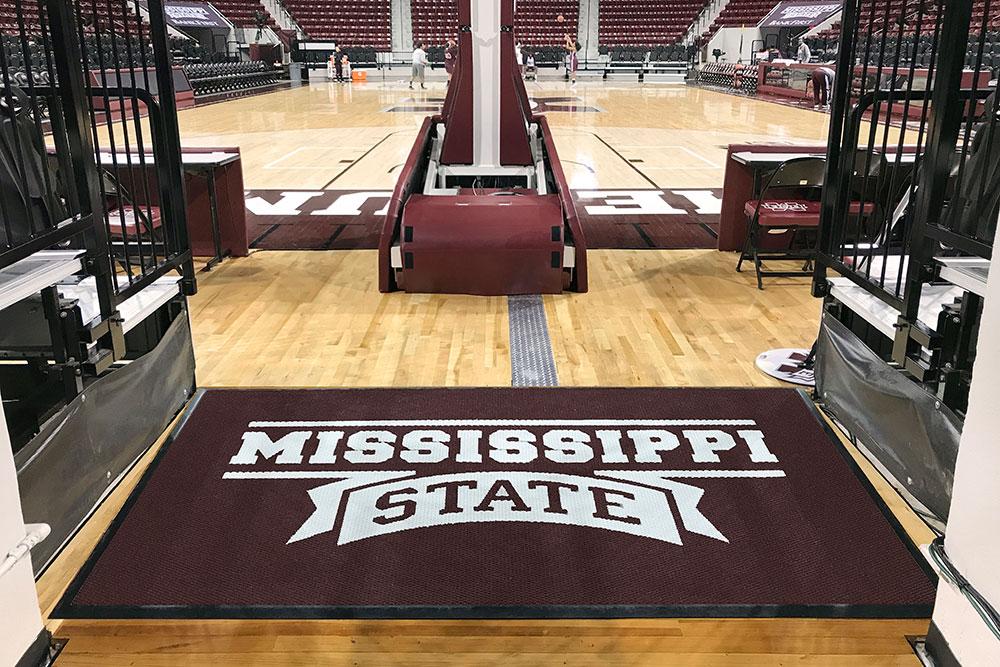 mississippi state university arena logo mat for basketball