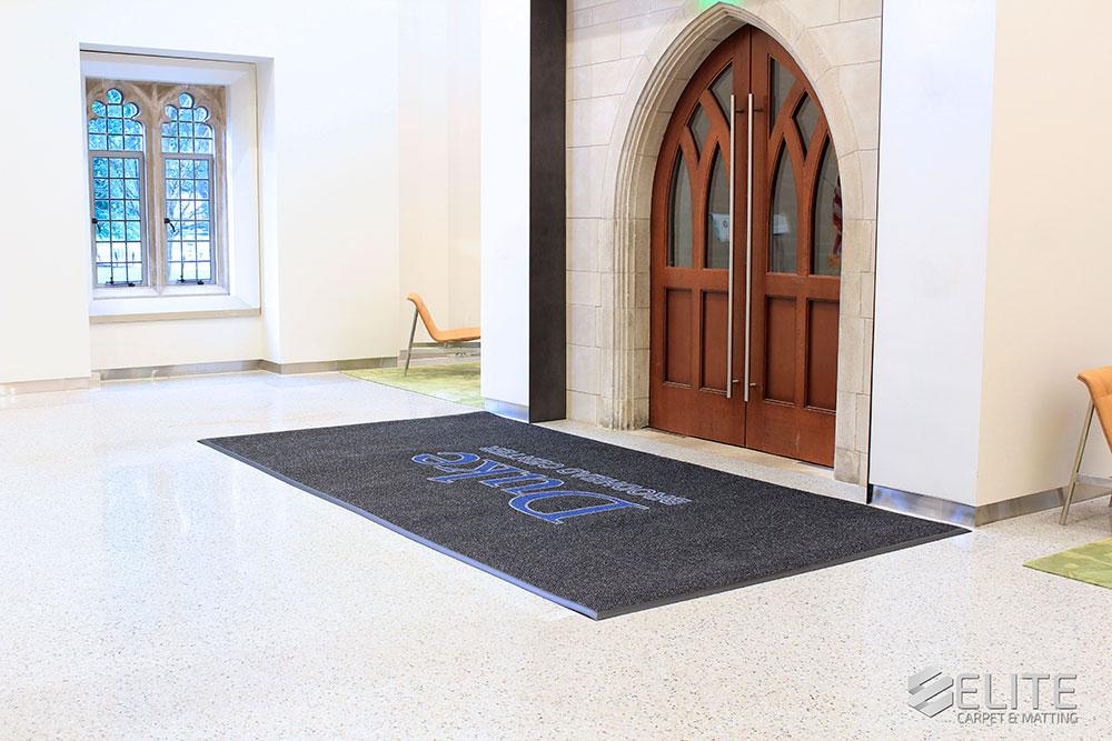 Duke Penn Pavilion Custom Logo Mats by Elite Carpet & Matting Company