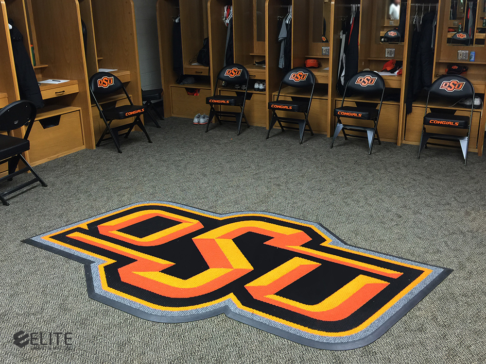 Oklahoma State University women's softball locker room